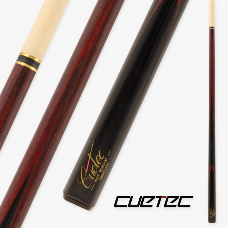 CUETEC CLASSIC PRO SNOOKER - BURGUNDY STAINED
