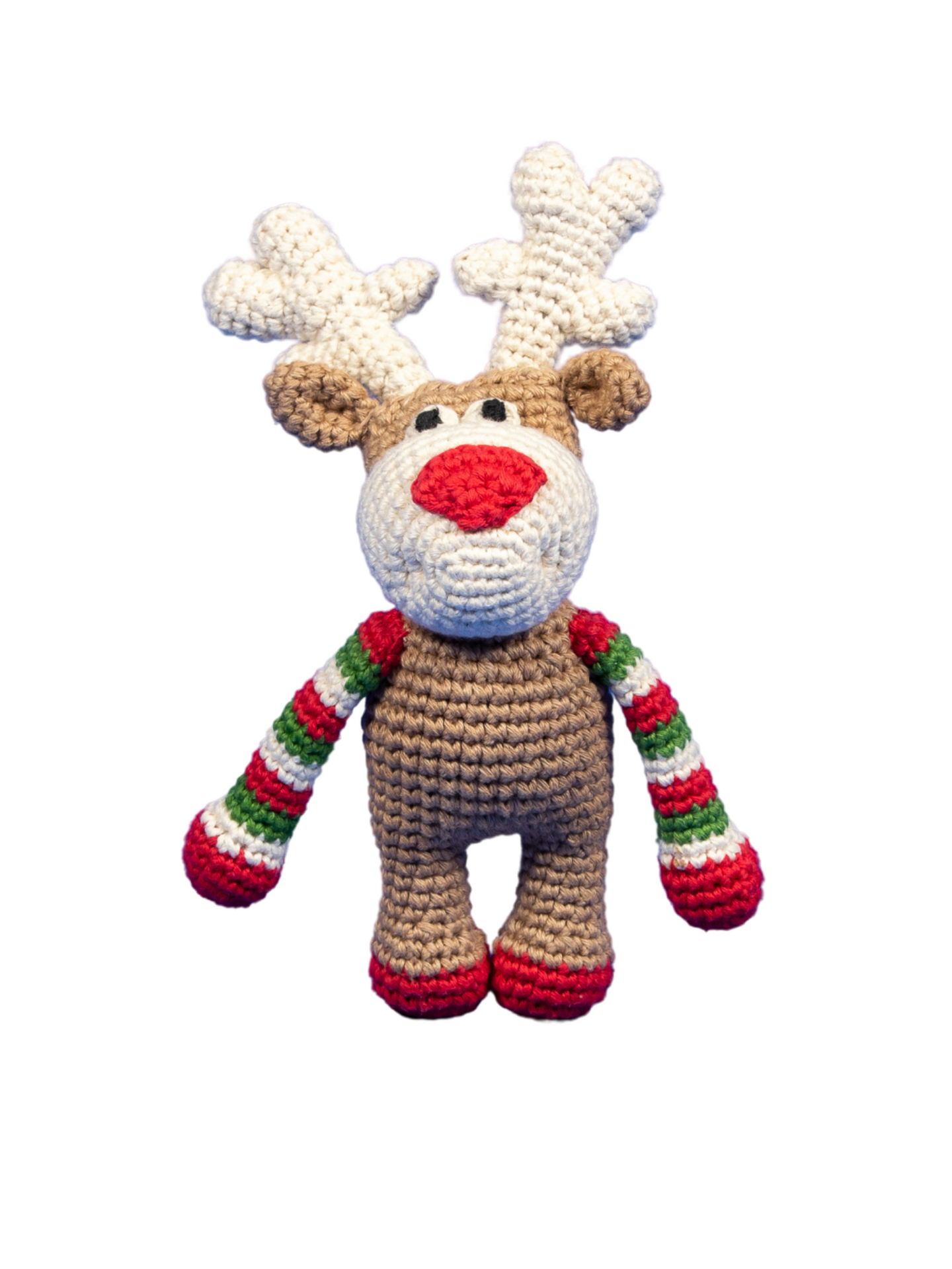 Rudolph the Reindeer Organic Crochet Squeaky Toy