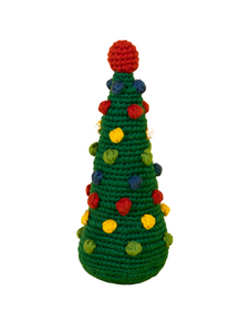 Christmas Tree Organic Crochet Squeaky Toy