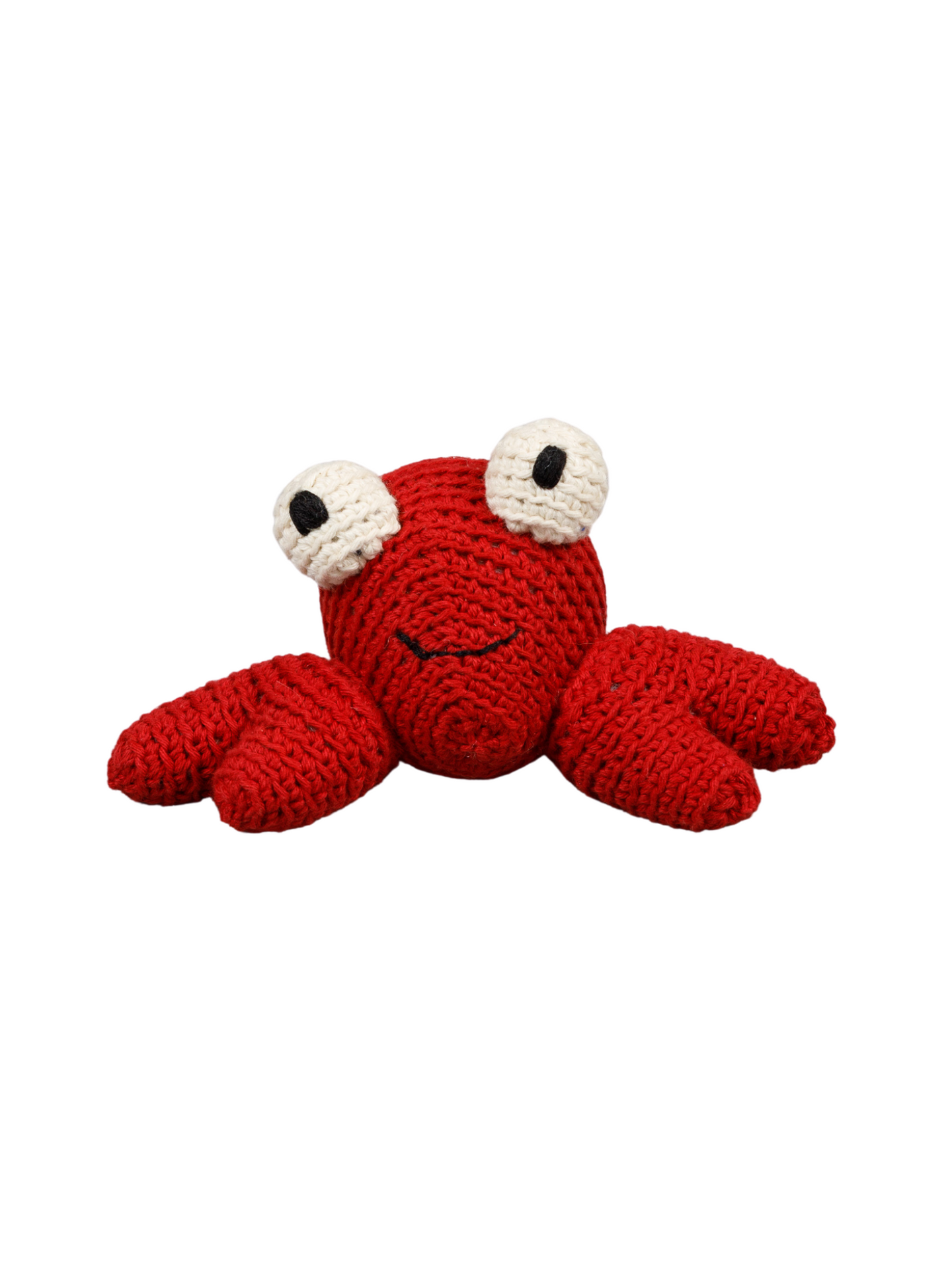 Crab Organic Crochet Squeaky Toy