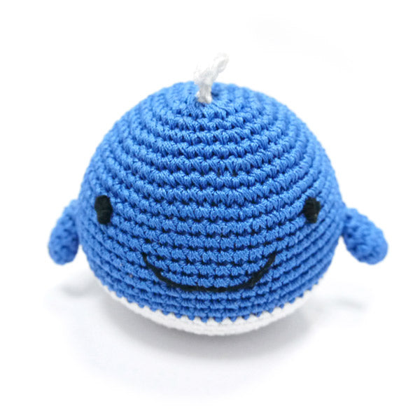 Whale Organic Crochet Squeaky Toy