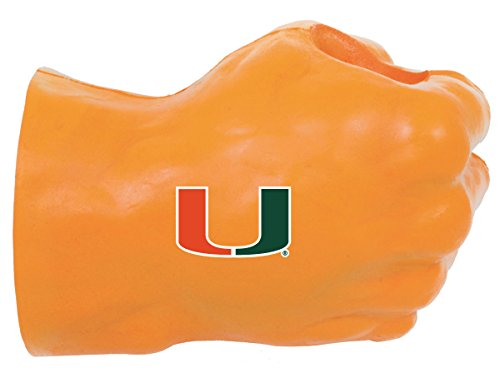 NCAA Miami Hurricanes Fan Fist Beverage Holders, Adult, Team Color