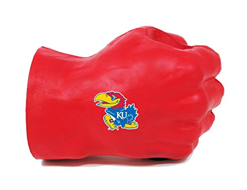 NCAA Kansas Jayhawks Fan Fist Beverage Holders, Adult, Team Color