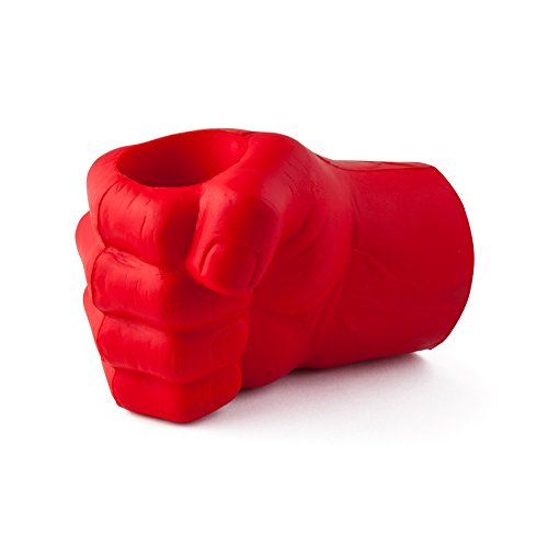 Giant Fist Drink Kooler, Durable Foam Red Hand, Keeps Drink Cold