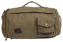 Load image into Gallery viewer, UNISEX CANVAS HOLDALL DUFFLE GYM TRAVEL BAG