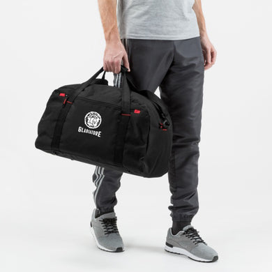 TRENDY GYM TRAVEL BLACK DUFFEL BAG