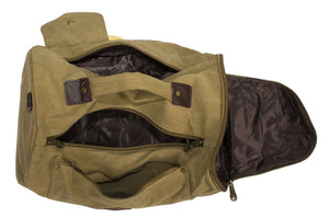 UNISEX CANVAS HOLDALL DUFFLE GYM TRAVEL BAG