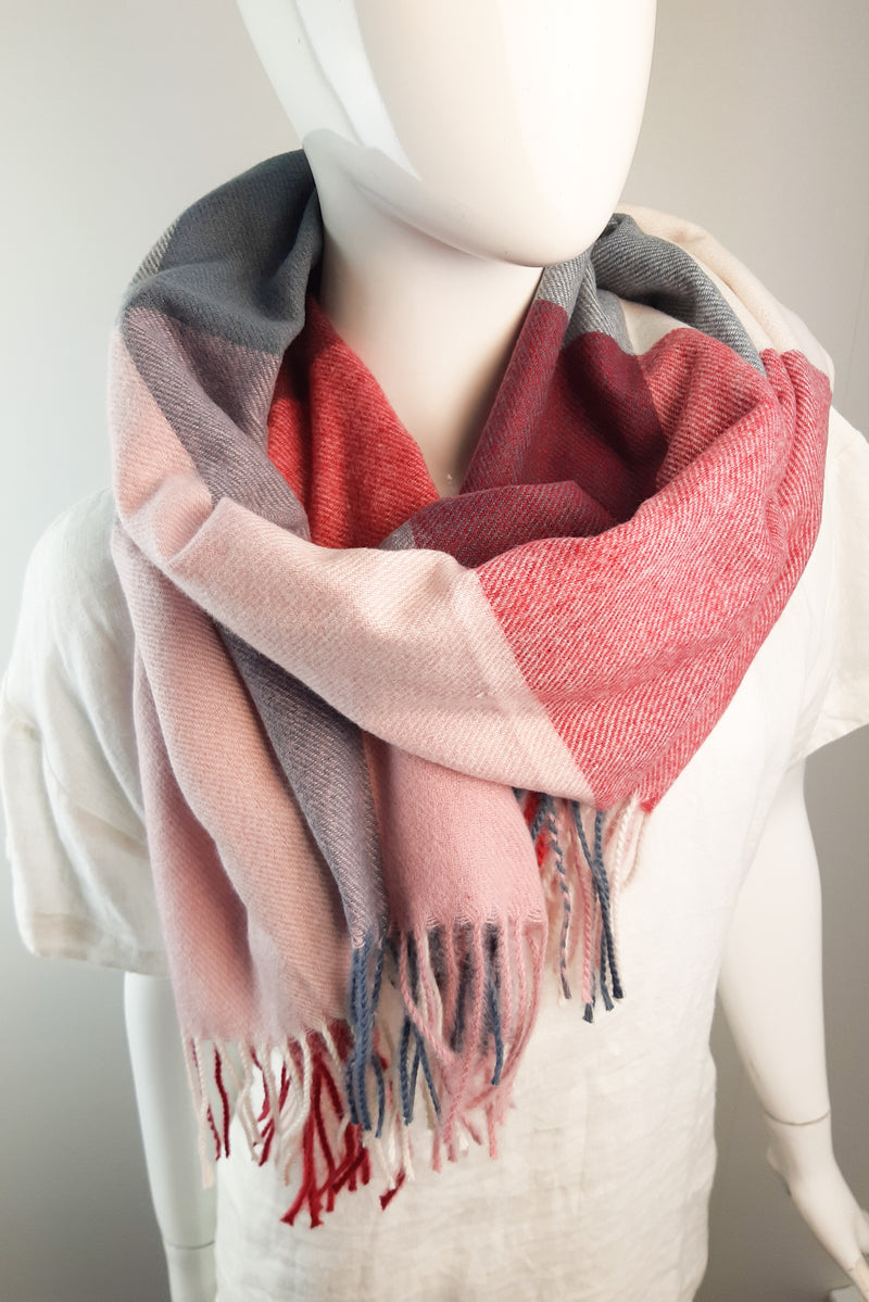 Pink Patterened Scarf