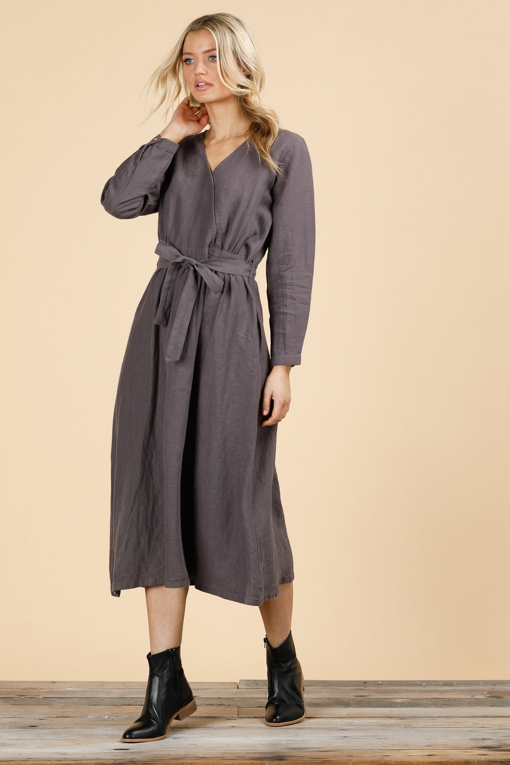 The Shanty - Arizona Long Sleeve Dress Sable