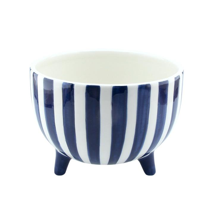 Madras link -Fraser Hand Painted Blue Planter