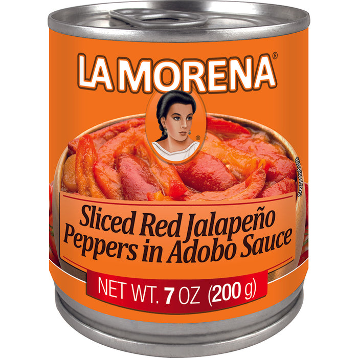 Red Sliced Jalapeño Peppers in Adobo Sauce by La Morena
