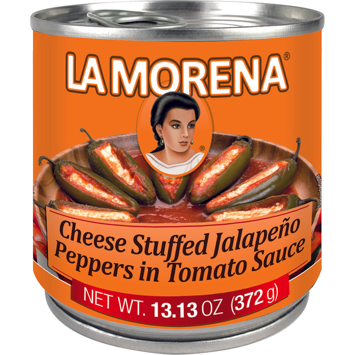 Cheese Stuffed Jalapeño Peppers in Tomato Sauce | La Morena