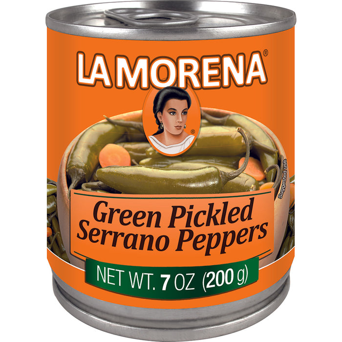 Green Pickled Serrano Peppers by La Morena