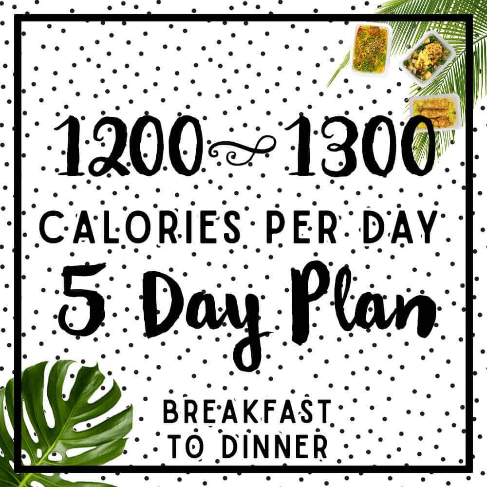 Womens 5 day 1200-1300 calorie meal plan
