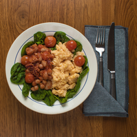 English Scrambled Eggs and Beans (GF)