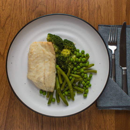 Steamed Barramundi & Greens (GF)