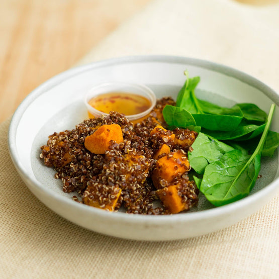 Fresh Meals 2 U Brekkie & Snacks Roast Pumpkin, Red Quinoa & Spinach Warm Salad (V)