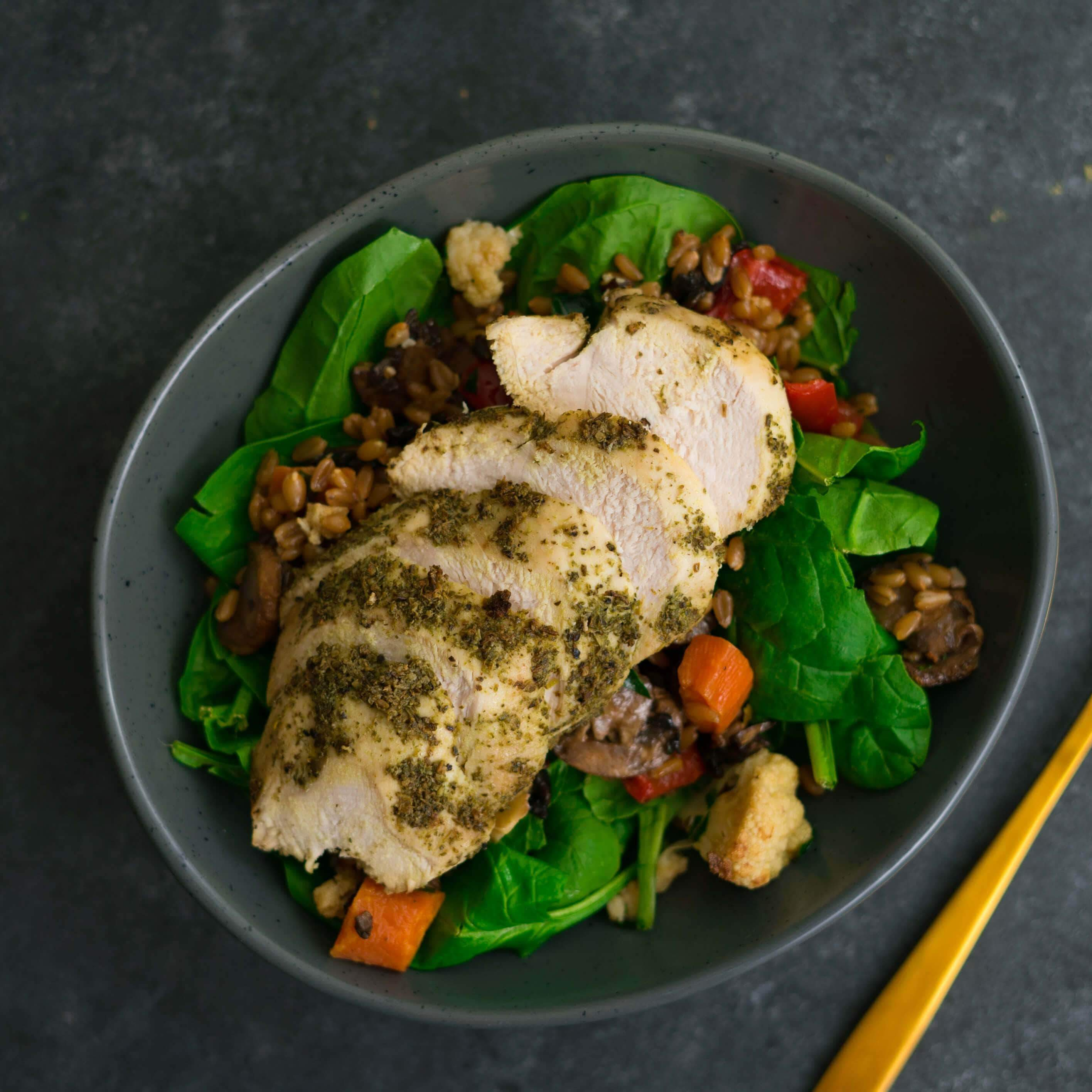 Chicken & Spinach Farro Risotto - Fresh Meals 2 U