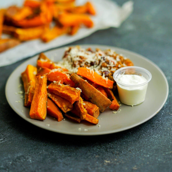 Pulled Beef loaded Sweet Potato Fries - Fresh Meals 2 U