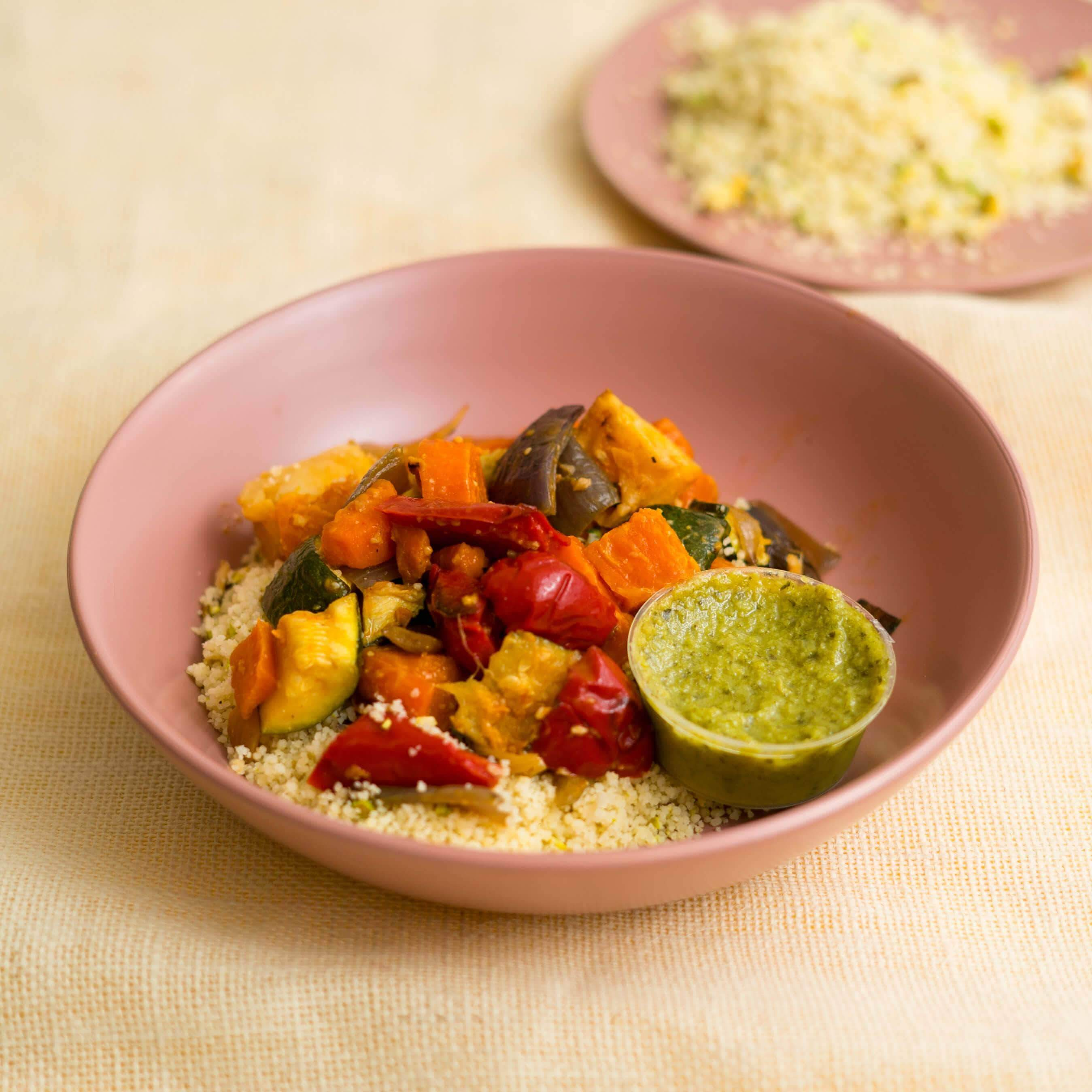 Roasted Vegetables with Cous Cous - Fresh Meals 2 U