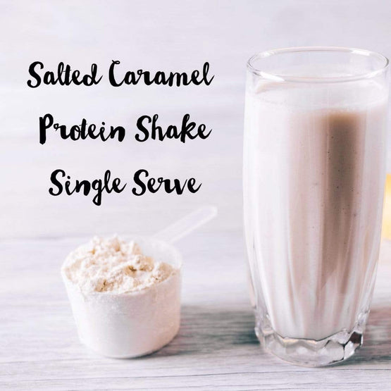 Salted Caramel Single Serve Whey protein powder - Fresh Meals 2 U