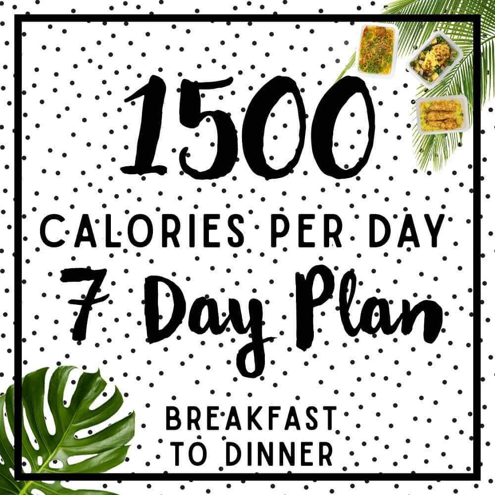 Mens 7 day 1500-1600 calorie meal plan