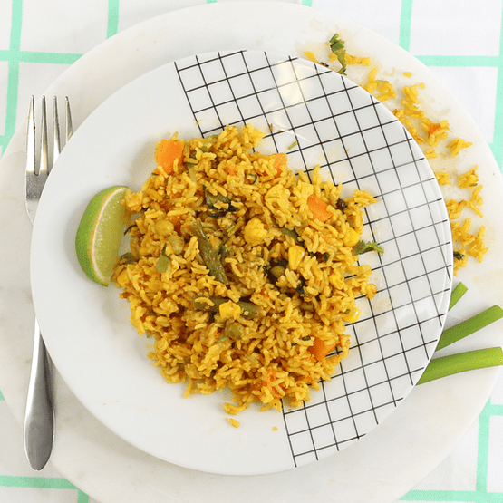 Fragrant Vegetable Biryani with Raita - Fresh Meals 2 U