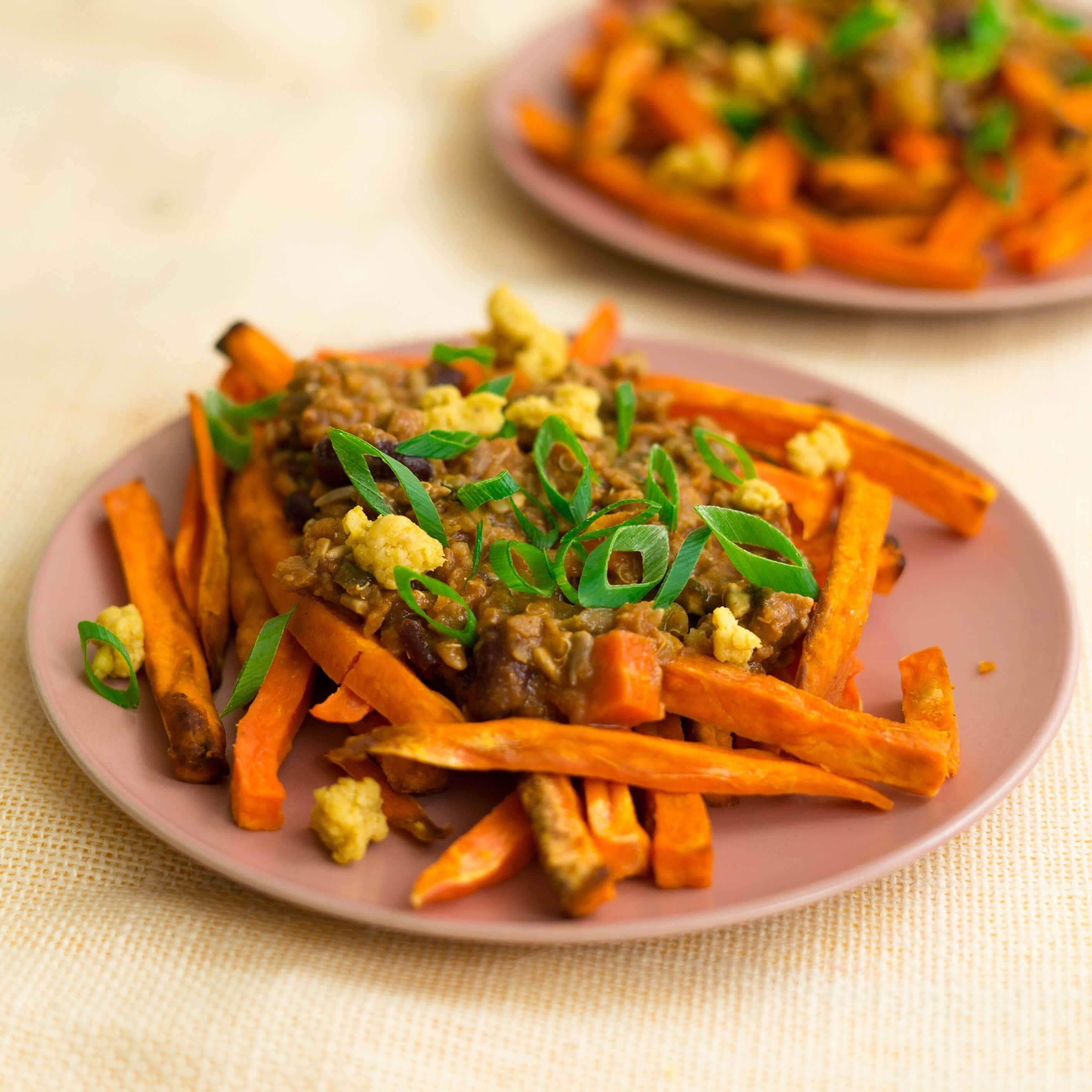 Fresh Meals 2 U Vegetarian Menu Vegetarian Sweet Potato Loaded Fries (V)