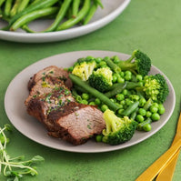 Lean Beef & Greens with Garlic Butter (GF)