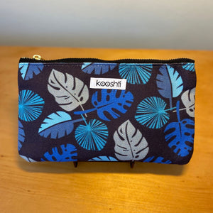 Blue Frond Zipper Pouch