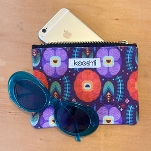Flowerfully Folk Zipper Pouch