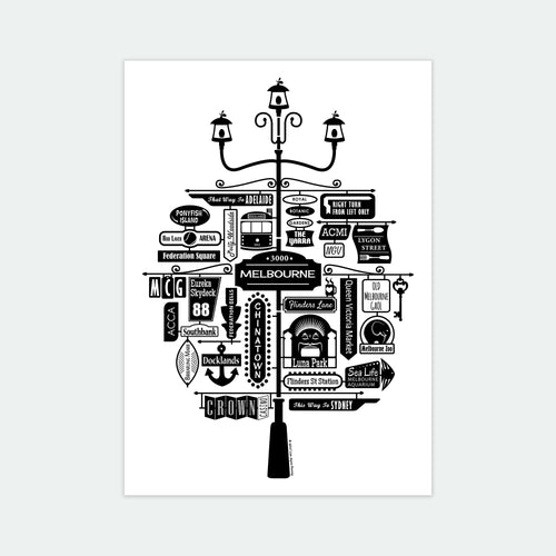 Best of Melbourne Art Print