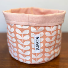 Load image into Gallery viewer, Orla Kiely Tiny Linear Stem pink Fabric Planter/Storage Basket