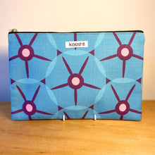 Load image into Gallery viewer, MCM Petunia Blue Zipper Pouch