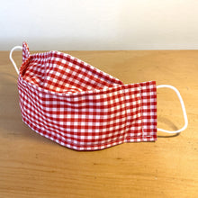 Load image into Gallery viewer, Retro Red Gingham Face Mask