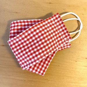 Retro Red Gingham Face Mask