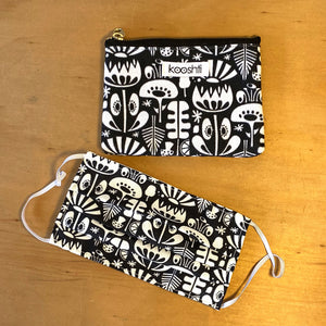 Scandi Flowers Zipper Pouch