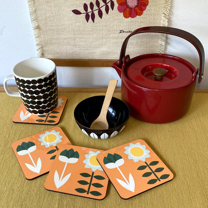 Set Sun Mandarin Coasters