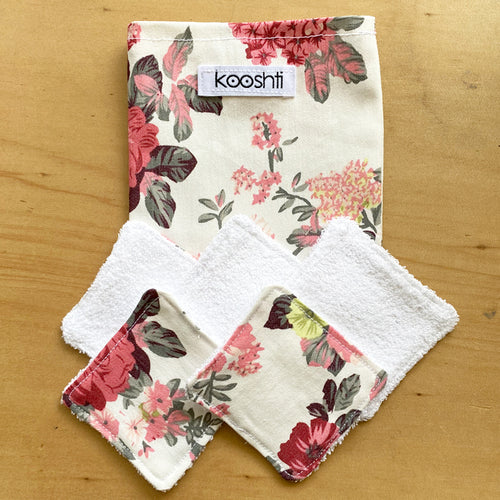 Vintage Floral Reusable Face Wipes