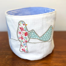 Load image into Gallery viewer, A Flutter of Friends Fabric Planter/Storage Basket
