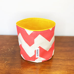 Watermelon Chevron Fabric Planter/Storage Basket