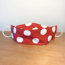 Load image into Gallery viewer, Cherry Red Polka Dot Face Mask