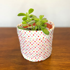 Sorbet Spot Melon Fabric Planter/Storage Basket