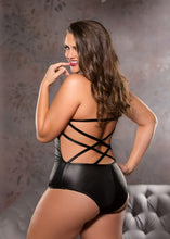 Load image into Gallery viewer, Strappy Teddy - Black - One Size Plus Size