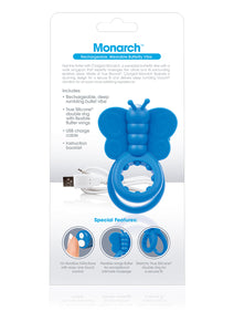 Charged Monarch Wearable Butterfly Vibe - Blue