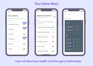 Gini DNA test kit bundled with 12 month subscription ($25)