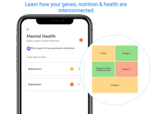 Load image into Gallery viewer, Bundle: Monthly App Subscription + DNA test kit - Access to Health reports, Gene Adjusted Nutrition, Food Lens & 1 Year Health Tracker Subscription Included