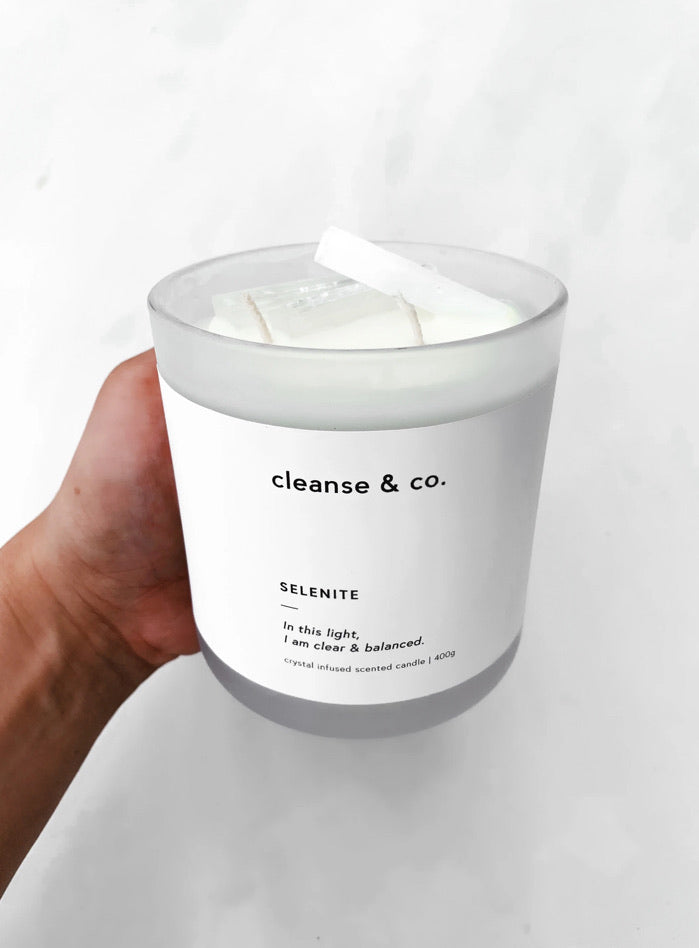 Selenite Candle 400gms