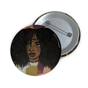 third eye girl pin back button