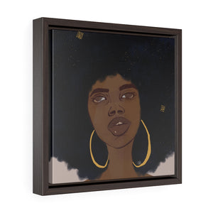 hoops framed canvas